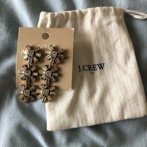 J crew crystal chandelier earrings